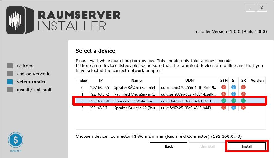 openHAB-2-Raumfeld-Raumserver-Installer-Gerät