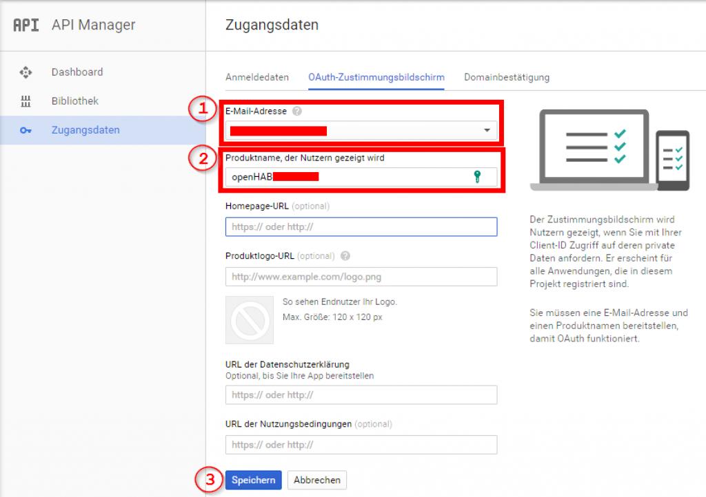 Smart-Home-openHAB-2-Google-Calendar-Zugangsdaten