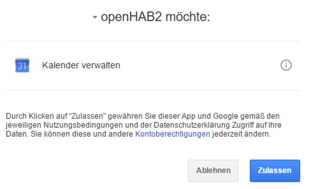 Smart-Home-openHAB-2-Google-Calendar-Zugriff
