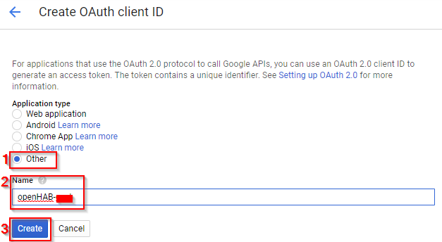 openHAB-Prescene-Simulation-create-credentials-oauth-client-id