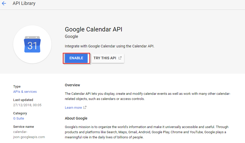 openHAB-Prescene-Simulation-google-calendar-api-enable