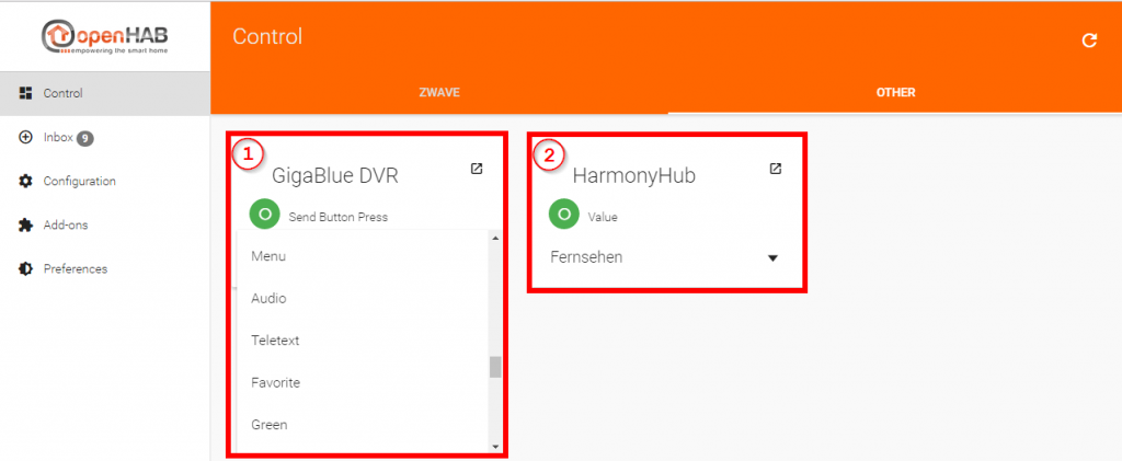 Smart-Home-openHAB-2-Harmony-Hub-Binding-Paper-UI