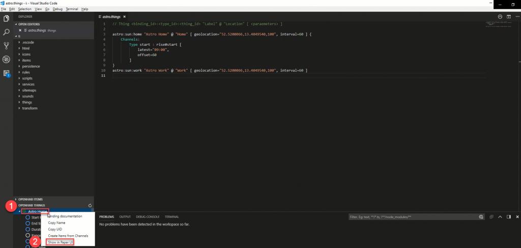 VS-Code-openHAB-Show-in-Paper-UI